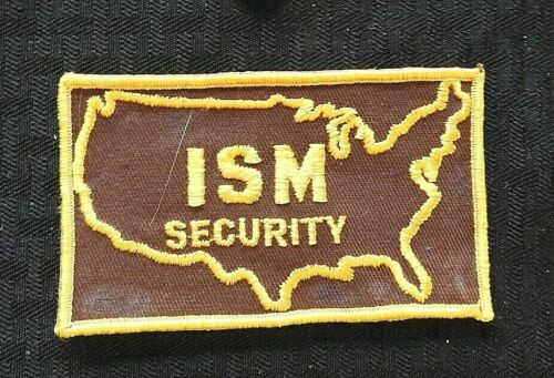 """c.1974 """"ISM"""" SECURITY GUARD POLICE JACKET CHEESECLOTH PATCH HAMMOND IN INDIANA"""