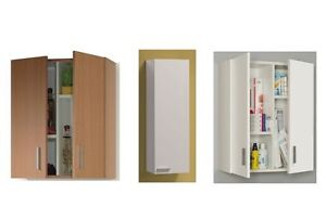 Arma universal kitchen bathroom office wall mounted for Beech kitchen wall cupboards