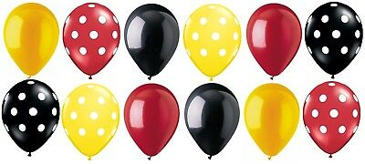 12 pc Mickey Mouse Inspired Polka Dot Latex Balloons Party Decoration Disney B (Disney Balloons)