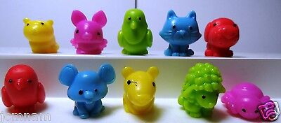 City Sqwishland Squishies Squishy Pencil Topper 10 Pcs Cat Dog Spider Pigeon