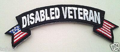 *** DISABLED VETERAN *** Military  Veteran Rocker Patch  P1555  E