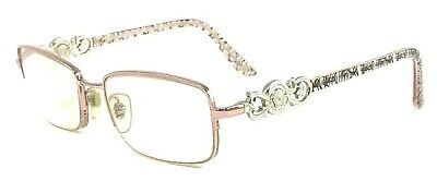 VERSACE MOD.1199 1056 Italy 51-17-135 Pink/Silver Clear Eyeglasses Frame