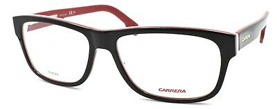 Carrera 1102/V 2OP Men's Eyeglasses Frames 56-16-145 Striped Black White + (White Eyeglass Frames For Men)