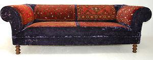 Antique-Rug-Purple-Velvet-Handmade-Chesterfield-Sofa