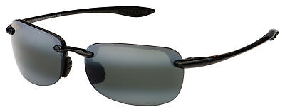 Maui Jim Sandy Beach Sunglasses 408-02 Gloss Black | Neutral Grey Polarized (Maui Jim Beach Sunglasses)