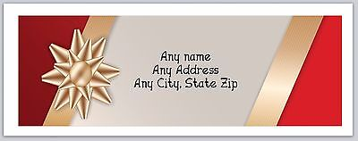Personalized Address Labels Christmas Gold Bow Buy 3 Get 1 Free Ac 231