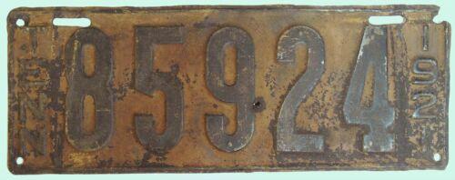 Tennessee Tn  License Plate Tag 1921 # 85724 Vintage B