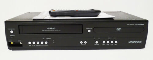 Magnavox DVD VHS Combo Player DV220MW9 4-Head VCR Recorder With Remote