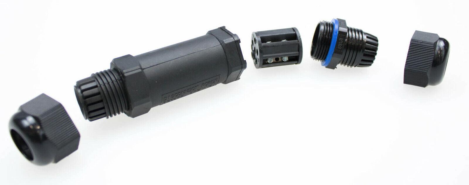 für Erdkabel Leitungen Boden wasserdichte Kabelmuffe Kabelverbinder IP68 15A