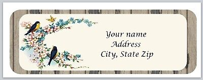 Personalized address labels Flowers & Birds Buy 3 get 1 free (xco 881)