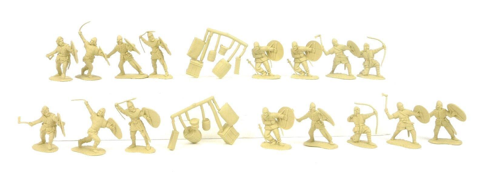 как выглядит Военная игрушка периода 1970 - настоящее время Conte Collectibles Vikings Plastic Figures Set 2 54mm Toy Soldiers фото