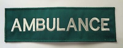 Green AMBULANCE Paramedic Medic Sew On Embroidered Back Patch Badge 26 x 8cm B1