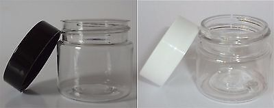 1-oz Clear Plastic Jar Wholesale Lot plastic small container crafts storage -