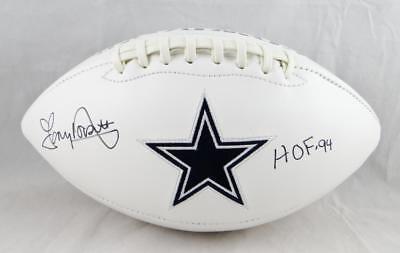 89ece763b Tony Dorsett Autographed Dallas Cowboys Logo Football With HOF and JSA W  Auth