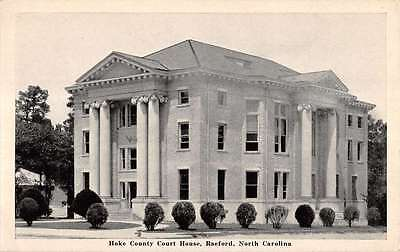 Raeford North Carolina Hoke County Court House Antique Postcard K18237