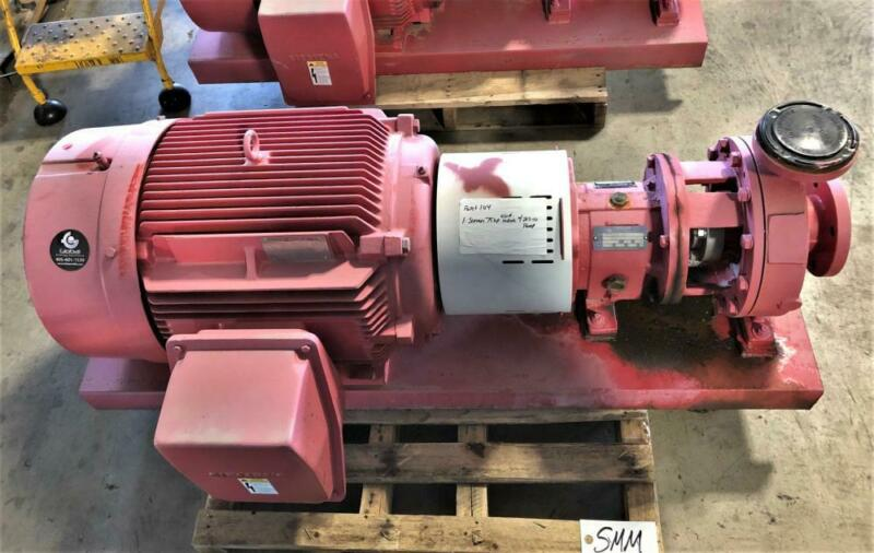 "Curflo Centrifugal Pump #CFGTPC2X3-10-71, MTX 2"" x 3""-10, WCB w/ 75HP Motor"