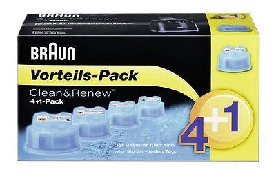 BRAUN CCR4 + 1 Reinigungskartuschen CCR5 CCR 4+1 Clean&Charge 5 Clean&Renew CCR3