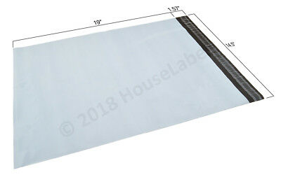14.5x19 Poly Mailer 1000 Bags Houselabels 2.35 Mil Thick White Shipping Envelope