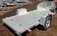 2015 Aluma Ltd. TK1 Flatdeck Snowmobile Trailer