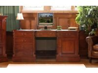 Solid Mahogany Large Computer Desk NEW