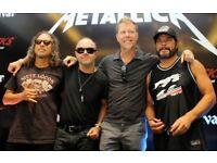 2x Tickets Metallica London O2 Arena 24th October 2017