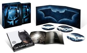 THE DARK KNIGHT TRILOGY (2012) NEW SEALED BLURAY BOXSET BATMAN BEGINS & RISES