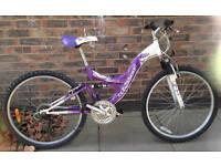 16 inch MTB Mountain Bike Full Suspension ladies Town Bicycle