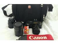 Canon 35MM film camera with 2 lenses