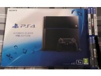 PS4 1TB console and games