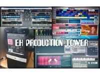 eh303 multi media micro tower av production / recording studio / native instruments mixer