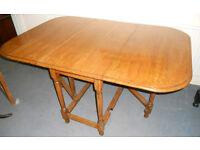 Solid Oak Drop Leaf Dining Table