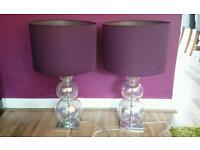 Glass Bubble Table Lamps with matching shades
