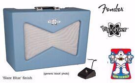 Fender Vaporizer (vapouriser, vaporiser) valve tube amp amplifier. Slate Blue. [unused/ as new]