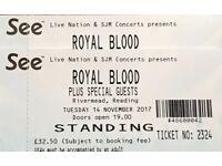 Royal Blood - 2 tickets 14th Nov
