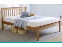 Wooden Bed Frame. Its a 3/4 bed frame. Great Condition