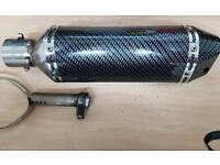 Motorbike silencer end can stubby GP