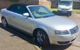 Audi A4 convertible low mileage