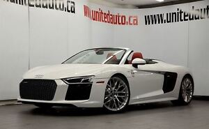 2017 Audi R8 SPYDER V10 RED DIAMOND QUILTED SOFT LEATHER