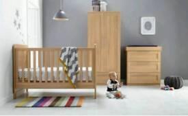 Mamas and Papas Rialto 3 Piece Nursery Furniture Used