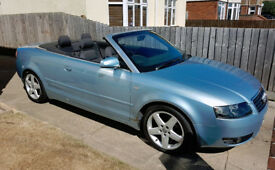 Audi A4 cabriolet/convertible 1.8 turbo 2004 '04' plate