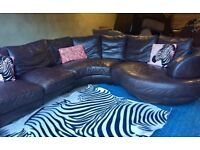 8 Seater Modern Stylish Leather Corner Sofa- Can Deliver