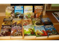 14 BRIAN JACQUES BOOKS - FROM THE TALES OF REDWALL - ALL IN VERY GOOD CONDITION