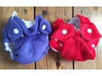 Tiny minky nappies for prem baby