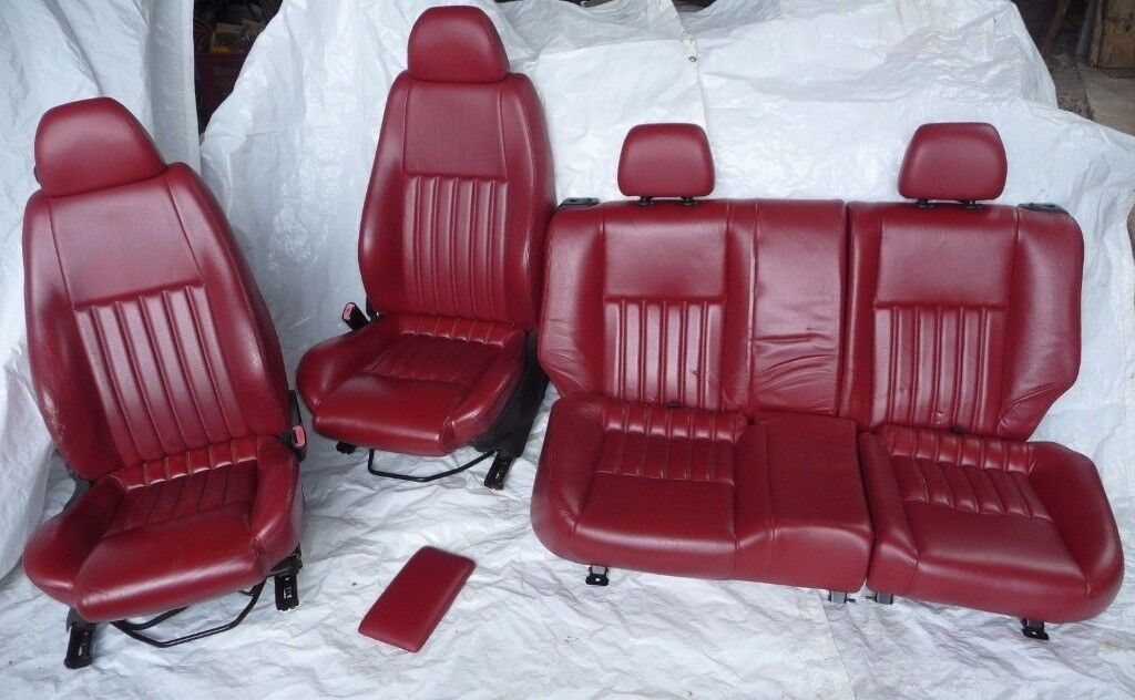 ALFA ROMEO DOOR RED LEATHER SEATS VW T T Transporter In - Alfa romeo seat covers
