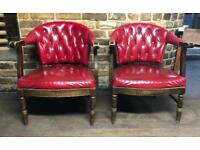 Pair Of Chesterfield Style Club Armchairs