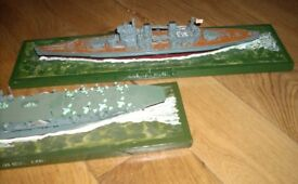 Two WW2 British Model Warship Boats