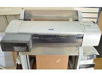"Epson Pro 7600 Large format printer 24"" + full set of refillable cartidges worth alone £250"