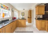 Oak Fitted Kitchen with Granite and Fridge, Oven, Gas Hob - Excellent Condition