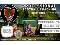 Football classes for children aged 3-12