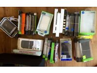 Lot x2 boxes, 140pcs Various Smartphone COVERS, CASES, etc. incl. Samsung Sony iPhone Blackberry